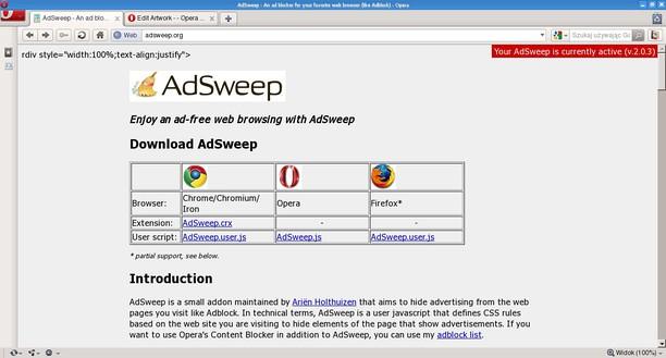 AdSweep-Top 10 website download phần mềm extension cho trình duyệt đầu tiên