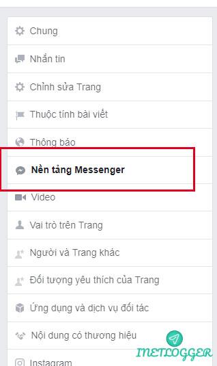 Cho phép tên miền trong nền tảng messenger