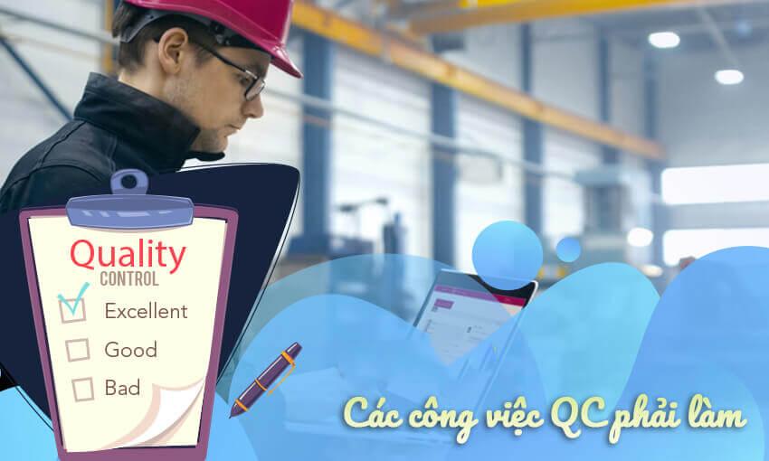 Những công việc của QC